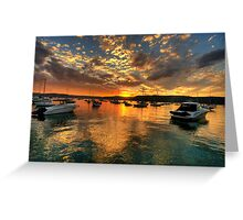 Sunset Mooring - Paradise Beach, Sydney - The HDR Experience Greeting Card