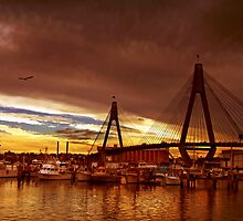 ANZAC Bridge at Sunset by JoshuaStanley