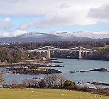 Menai Suspension Bridge by sandmartin