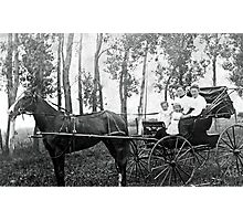 horse and buggy Photographic Print