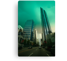 An evening drive through downtown Vancouver Canvas Print