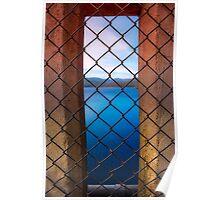 Peeking Through Maroondah Dam Wall Poster