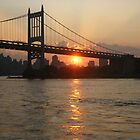 RFK Bridge at Sunset by Bernadette Claffey