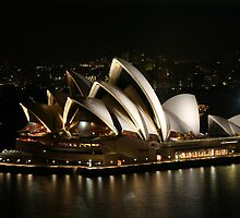 Opera House at Night, Sydney, Australia by Michael Boniwell