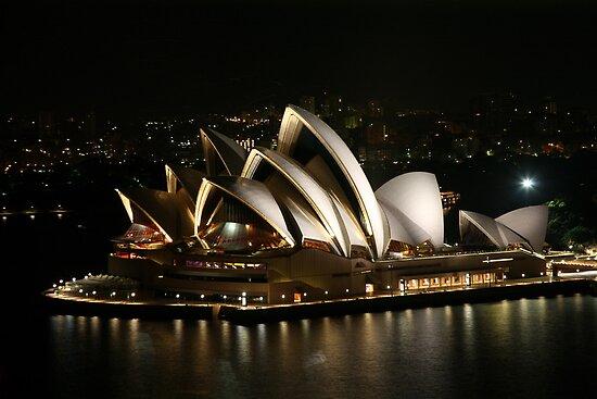 Opera House at Night, Sydney, Australia by Michael Boniwell