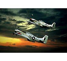 Mustangs in Flight Photographic Print