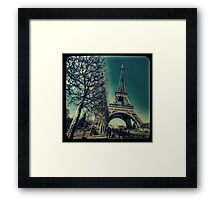 Retro Eiffel Tower Framed Print