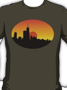 Chicago Skyline at Sunset T-Shirt