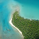 aitutaki from the sky by gypsysouls
