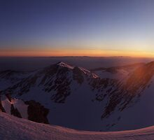 Panoview from Mussala peak, the highest place on Balkan peninsula by mountphoto