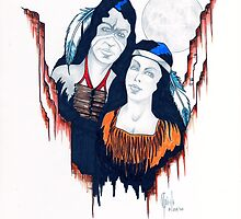Native American Couple by James Peele
