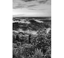 Hills wrapped in mist Photographic Print