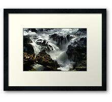 Maui Flowing Surf Framed Print