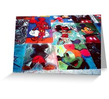 Mickey Mouse Character SideWalk Art in Downtown Disney Florida Greeting Card