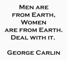 Men & Women,  George Carlin quote by David Powell