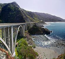 Rocky Creek Bridge Big Sur by Mark Ramstead