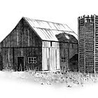 Old Barn and Silo by Joyce