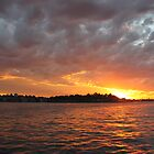 sunset on the Harbour by Leoni South