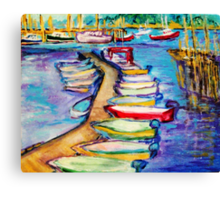On The Boardwalk Canvas Print