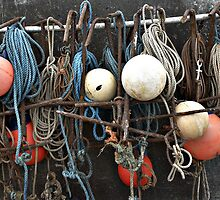 Fishing equipment, Sheringham, Norfolk, UK by Richard Flint