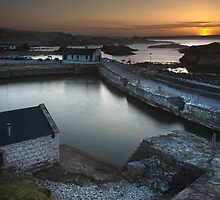 End of day at Ballintoy Harbour. by Peter Ellison