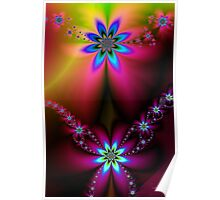 Fractal Spring Daisies Poster
