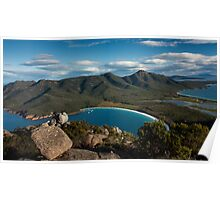 View of Wineglass Bay from Mount Amos Poster