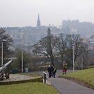 Auld Reekie From Calton Hill by Lynne Morris