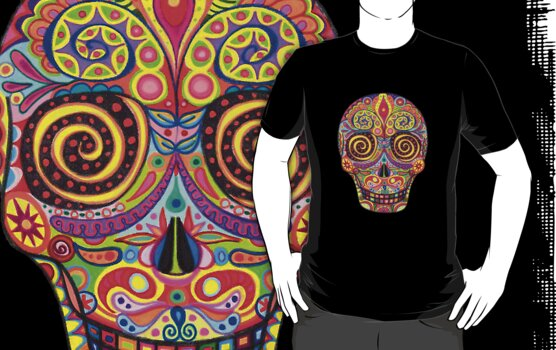 Sugar Skull Day of the Dead shirt by Thaneeya McArdle