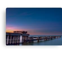 Dawn at Mentone Pier #2 Canvas Print