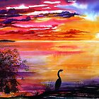 Colours of Sunset  - Fantasy Seascape by © Linda Callaghan