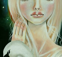 Leda and the Swan by KimTurner