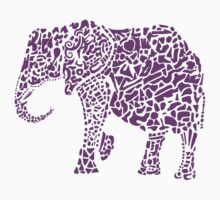 Purple Elephant by leprosa