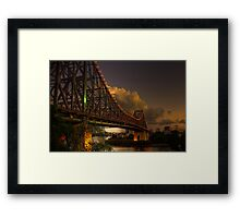 Nightfall at the Story Bridge Framed Print