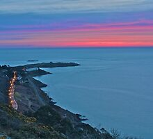 Sunrise over Killiney Bay by Stephen O'Connell