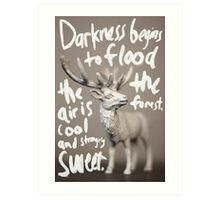 Followed by light Art Print