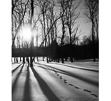 Shadowy Footprints Photographic Print
