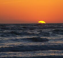 SUNSET OVER GULF OF MEXICO by Wayne Hughes
