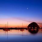 Morro bay at twilight by bettywiley