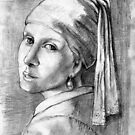 girl with the pearl earing as by Vermeer by james thomas richardson