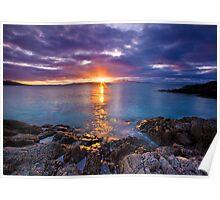Scotland: Hebredean Sunset Poster