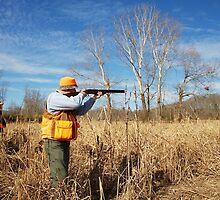 TAKING AIM ON BOB WHITE QUAIL by Wayne Hughes