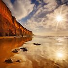Sunburst Reflection - Anglesea by Mark Shean