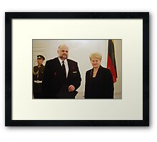 Me & President of Lithuania in March 11 - independence day Framed Print