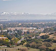 Snow on the mountains in Silicon Valley by markdevisser