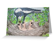 Life Begins Again - Magpies in Spring Greeting Card