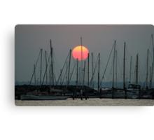 St Kilda Marina Sunset Canvas Print