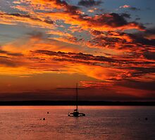Sunset at Cowes II by Tom Newman