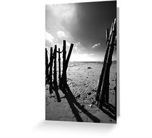 Old Fishing Harbour Greeting Card
