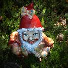 One of these creepy looking garden gnomes by Kurt  Tutschek